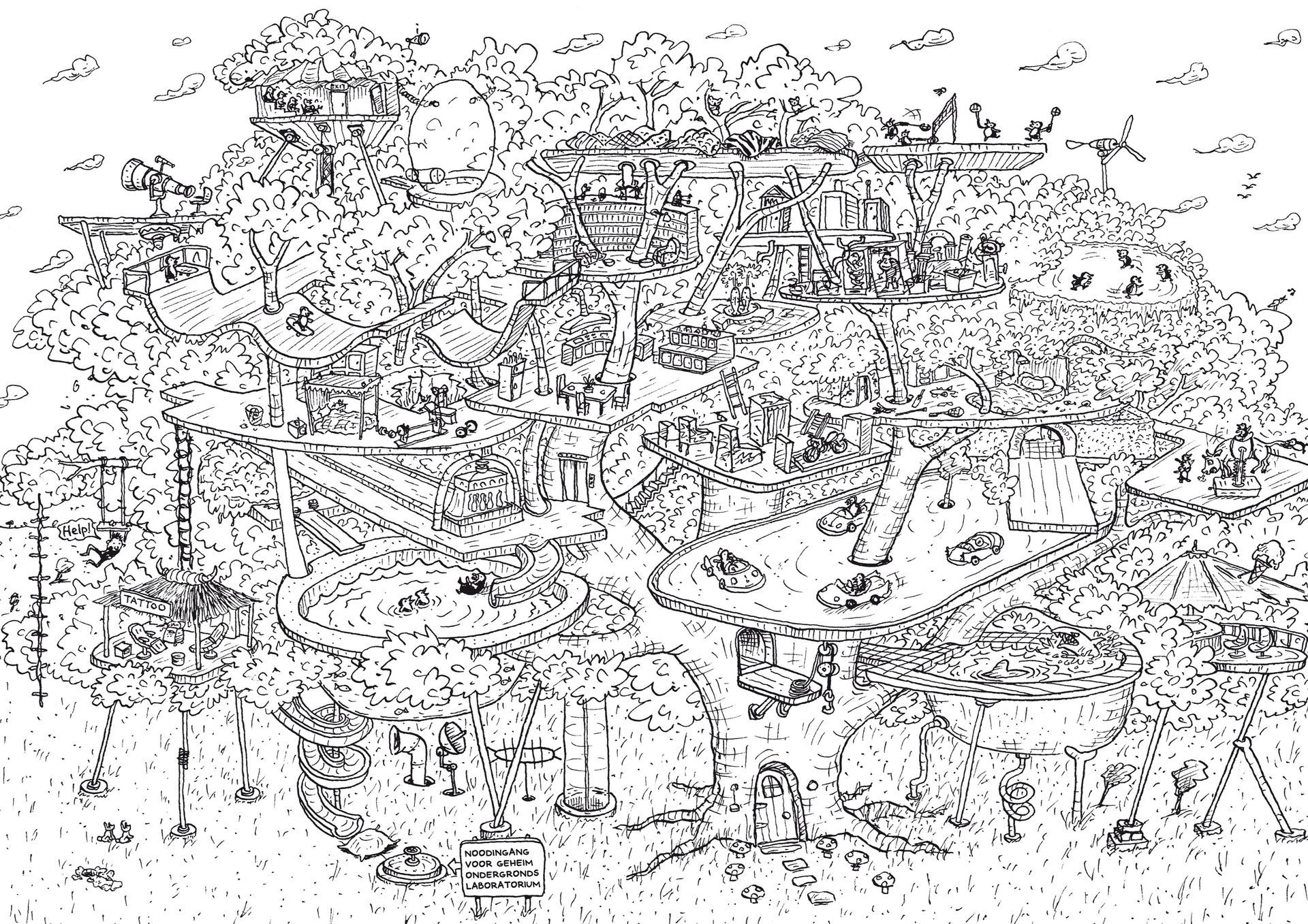 Wat Is Het Geheim Van De Waanzinnige Boomhut Nrc Boomhut Illustrator Kinderboek