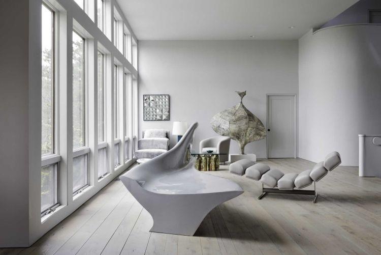 Zeitgenossische Skulptur Und Kunstobjekt Im Wohnzimmer In 50 Herrlichen Beispielen Decor Minimal Living Room Living Room Decor