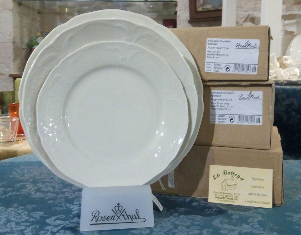Servizio di piatti porcellana per 12 persone rosenthal for Servizio da the rosenthal