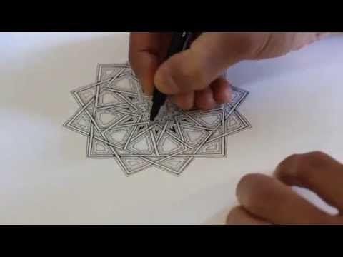 How To Draw Geometric Design Full Tutorial Youtube Geometric Islamic Pattern Geometric Pattern