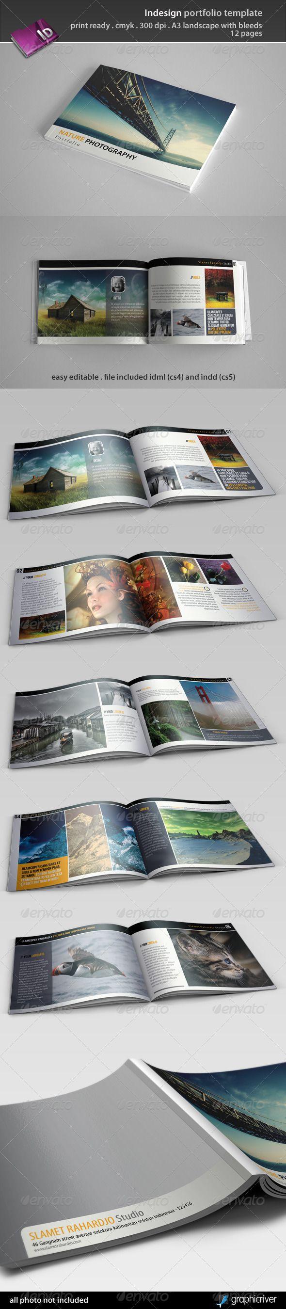 indesign portfolio template photobook pinterest