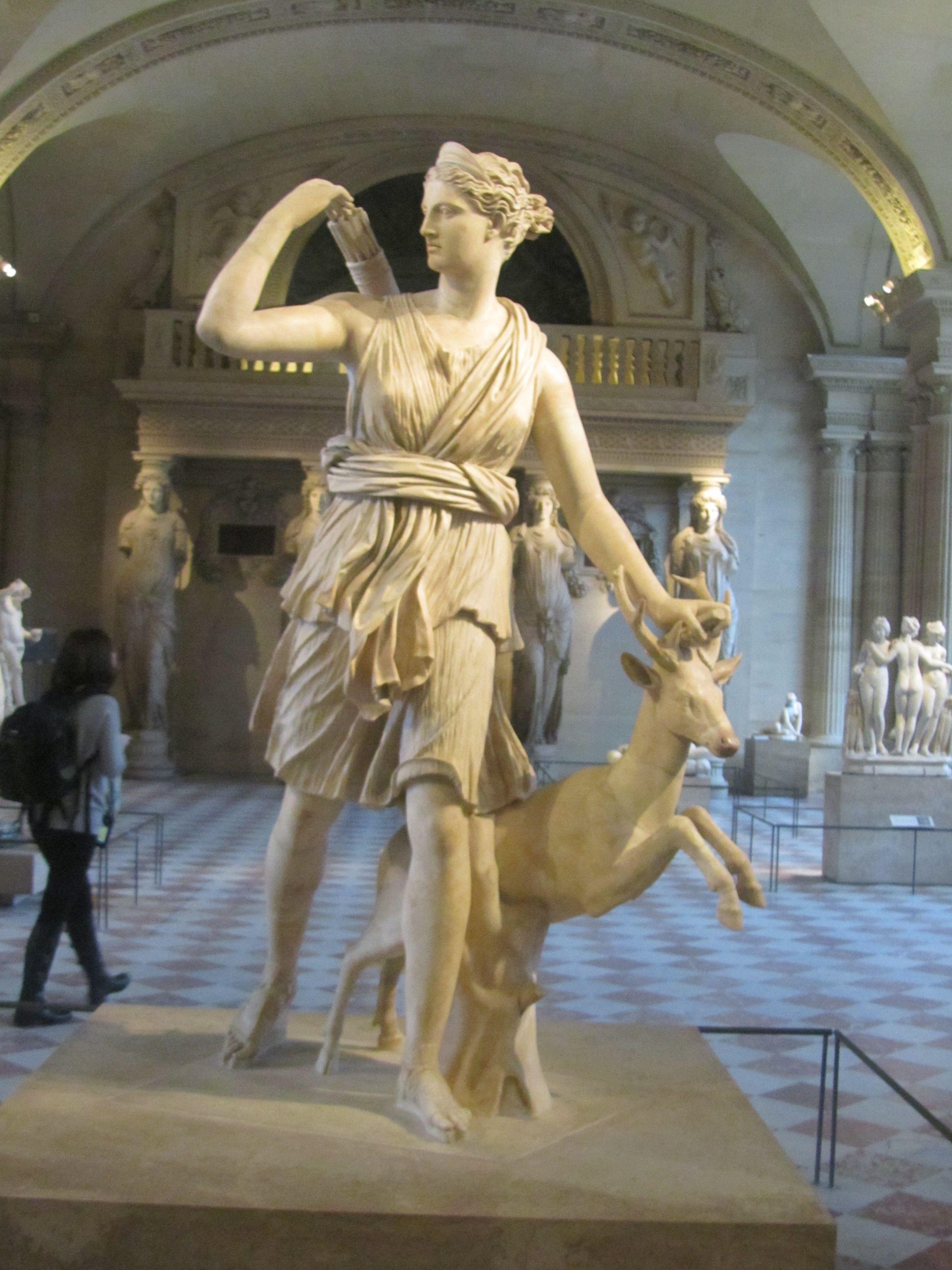 Greek Goddess Artemis, goddess of the hunt. | Greek art ...