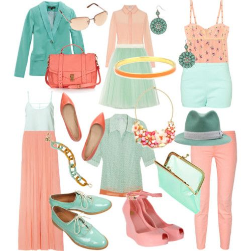 doux rousse: color combination: peach and mint | my kind of style