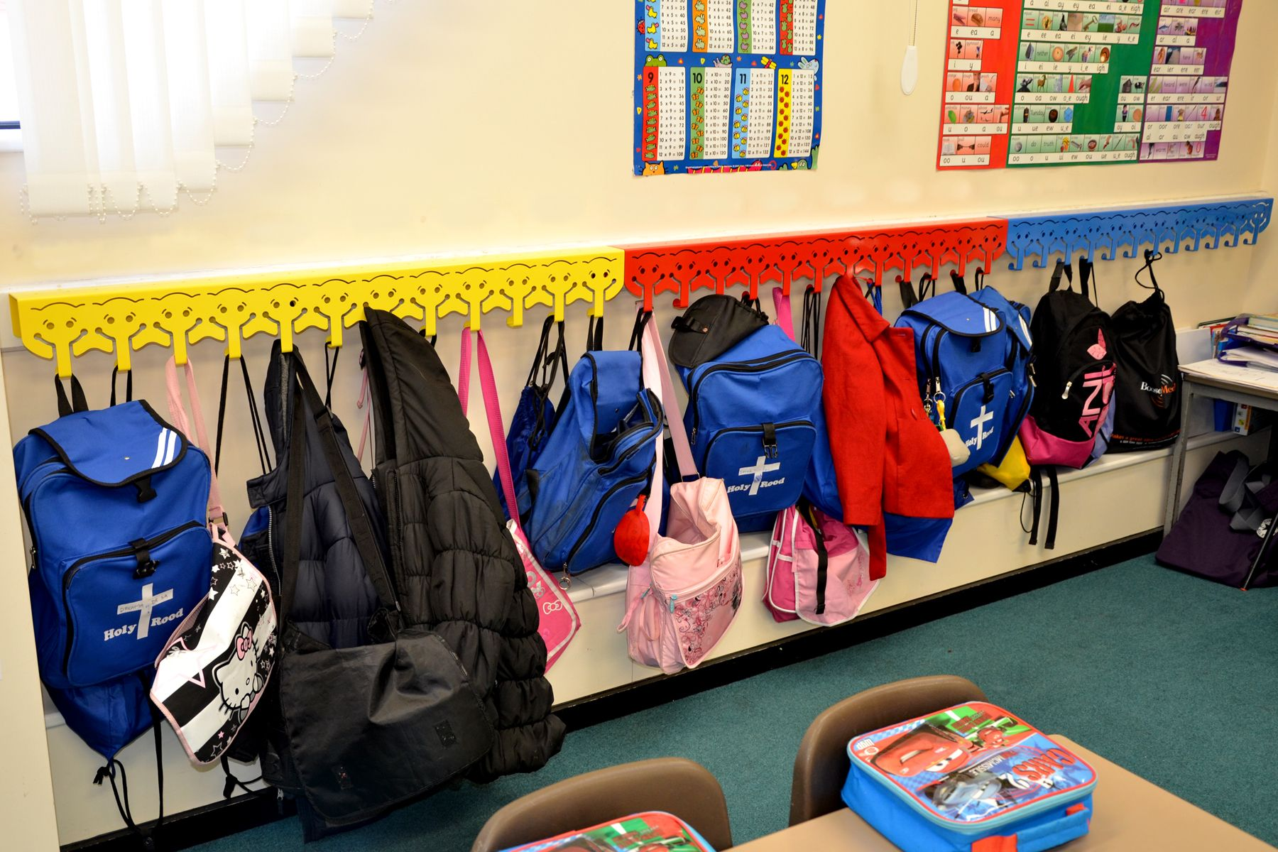 Hooks In The Classroom For Coats And Backpacks