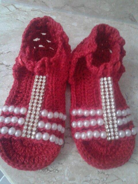 Sandália em croche