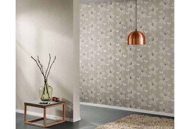 Schlichtes Design Durch Eine Tapete Die Im Schlichten Grau