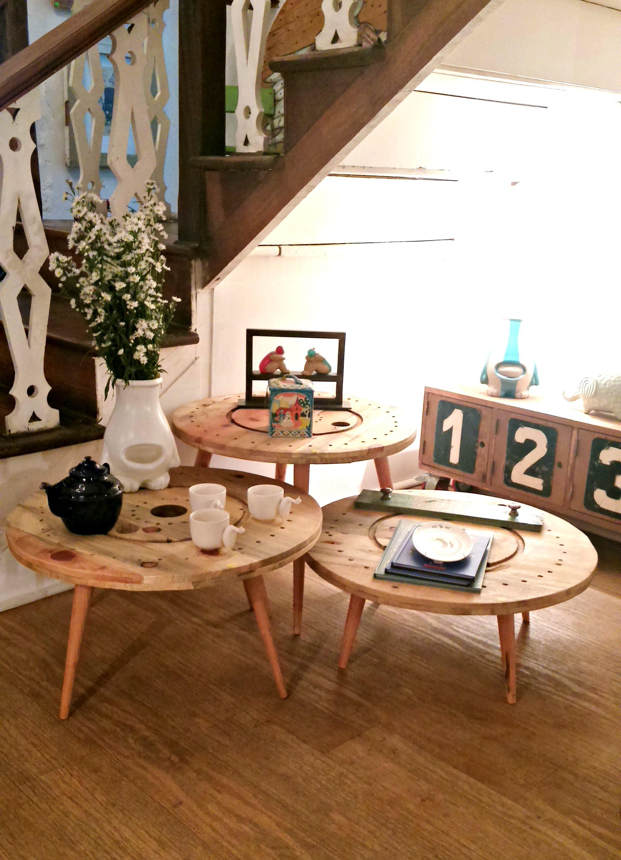mesas de carrete, distintas alturas <3 | muebles | Pinterest | Mesas ...