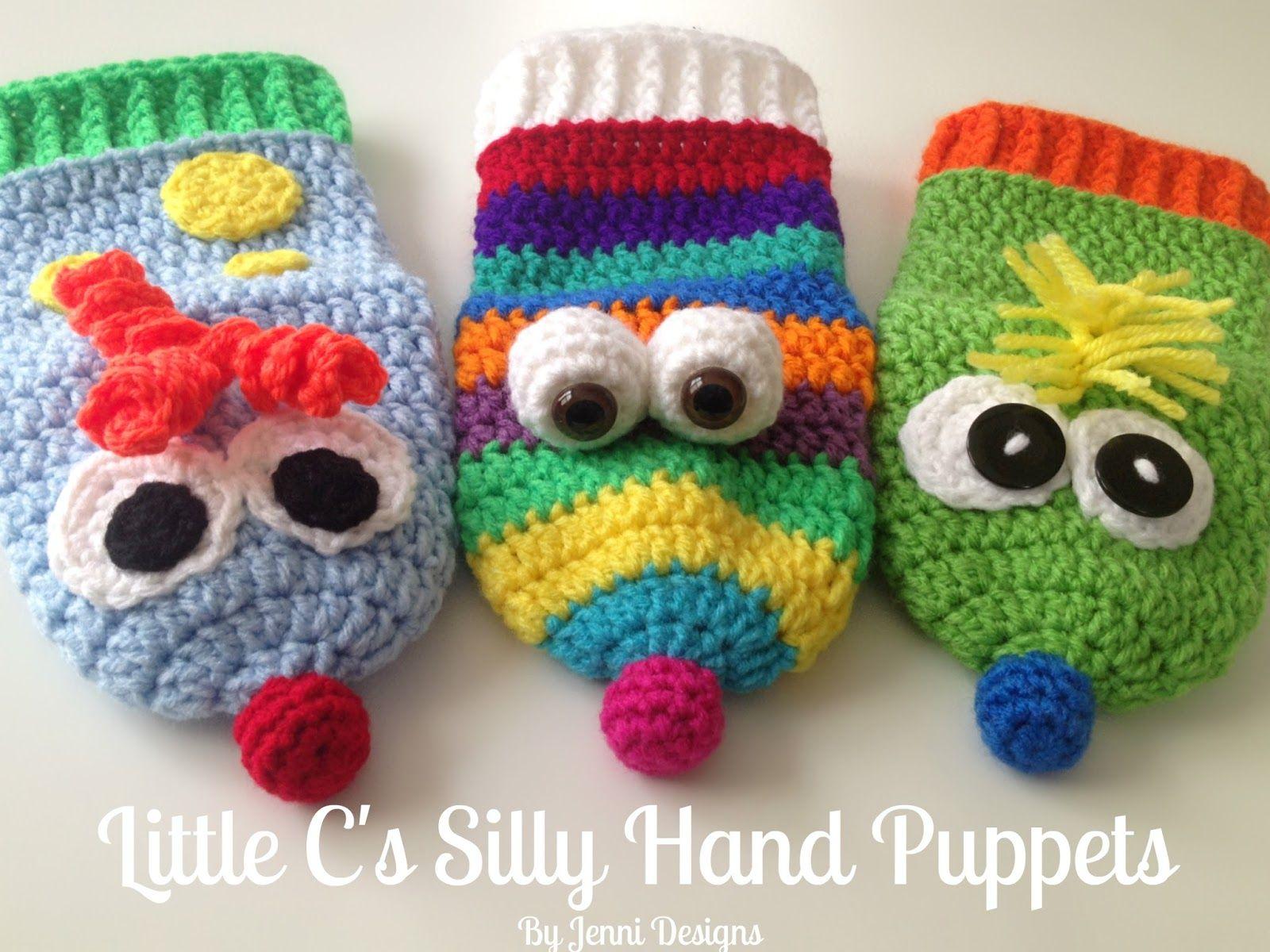 Free Crochet Pattern: Little C\'s Silly Hand Puppets | Crochet baby ...