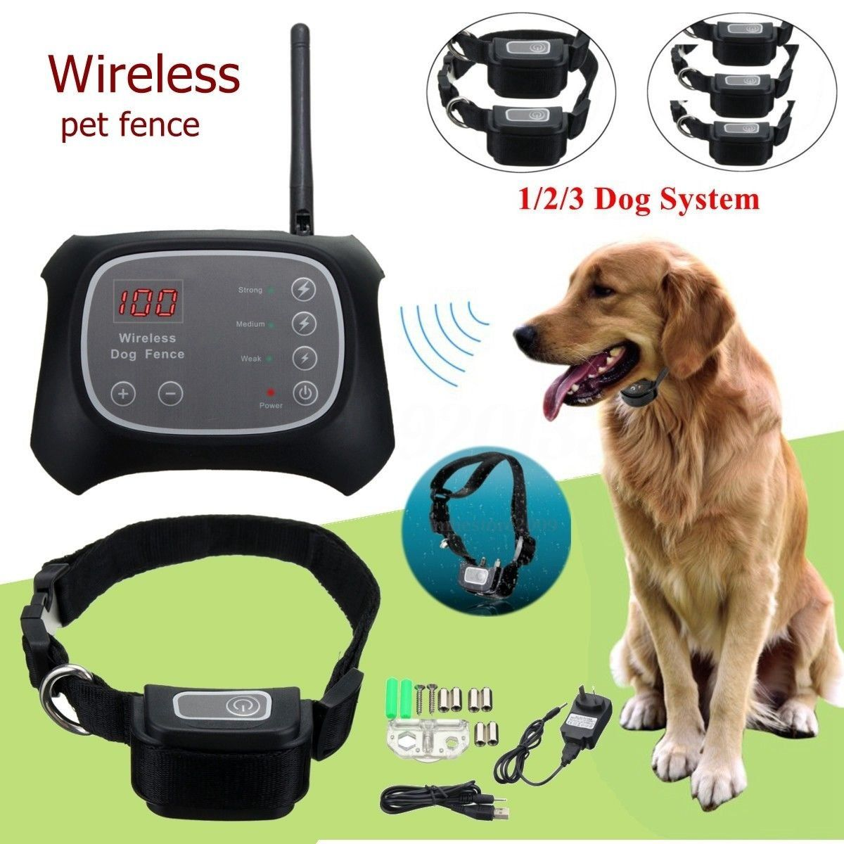 Tdc Wireless Electric Pet Dog Fence Containment System Waterproof