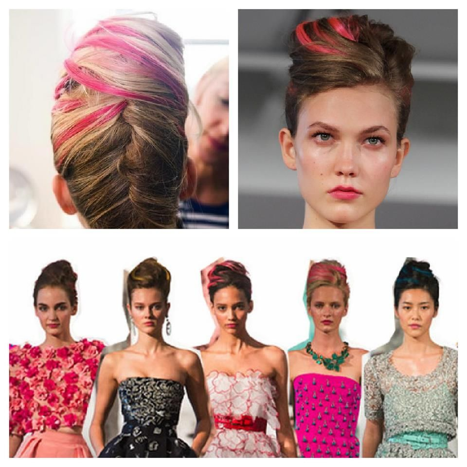 Color chalking in Oscar de la Renta show at Fashion Week - color chalking now available at Swink!