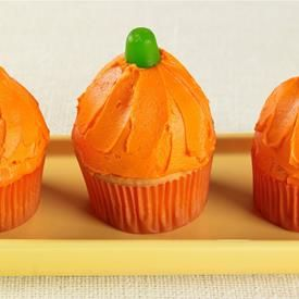 Pumpkin-Shaped Cupcakes