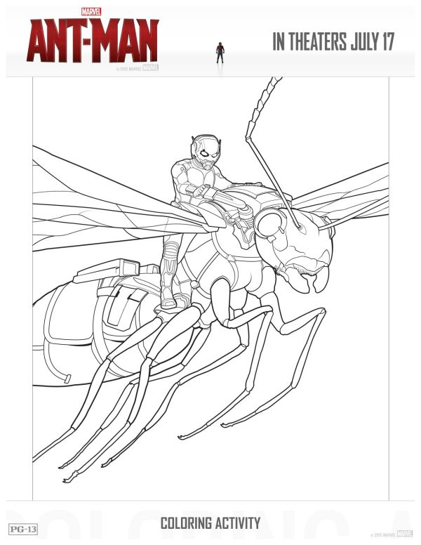 Free Marvel Ant Man Printable Coloring Page