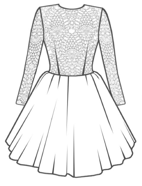 Рисунок блузка и юбка