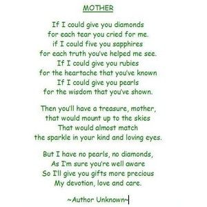 Mothers Day Poems in English | Happy mother day quotes ...