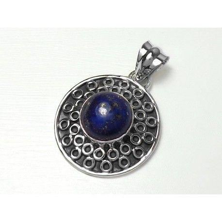 Sterling Silver Cabochon Lapis Lazuli Pendant
