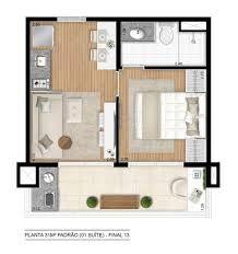 Projeto apartamento 50m2 pesquisa google projeto apto for Distribucion apartamento 50 m2