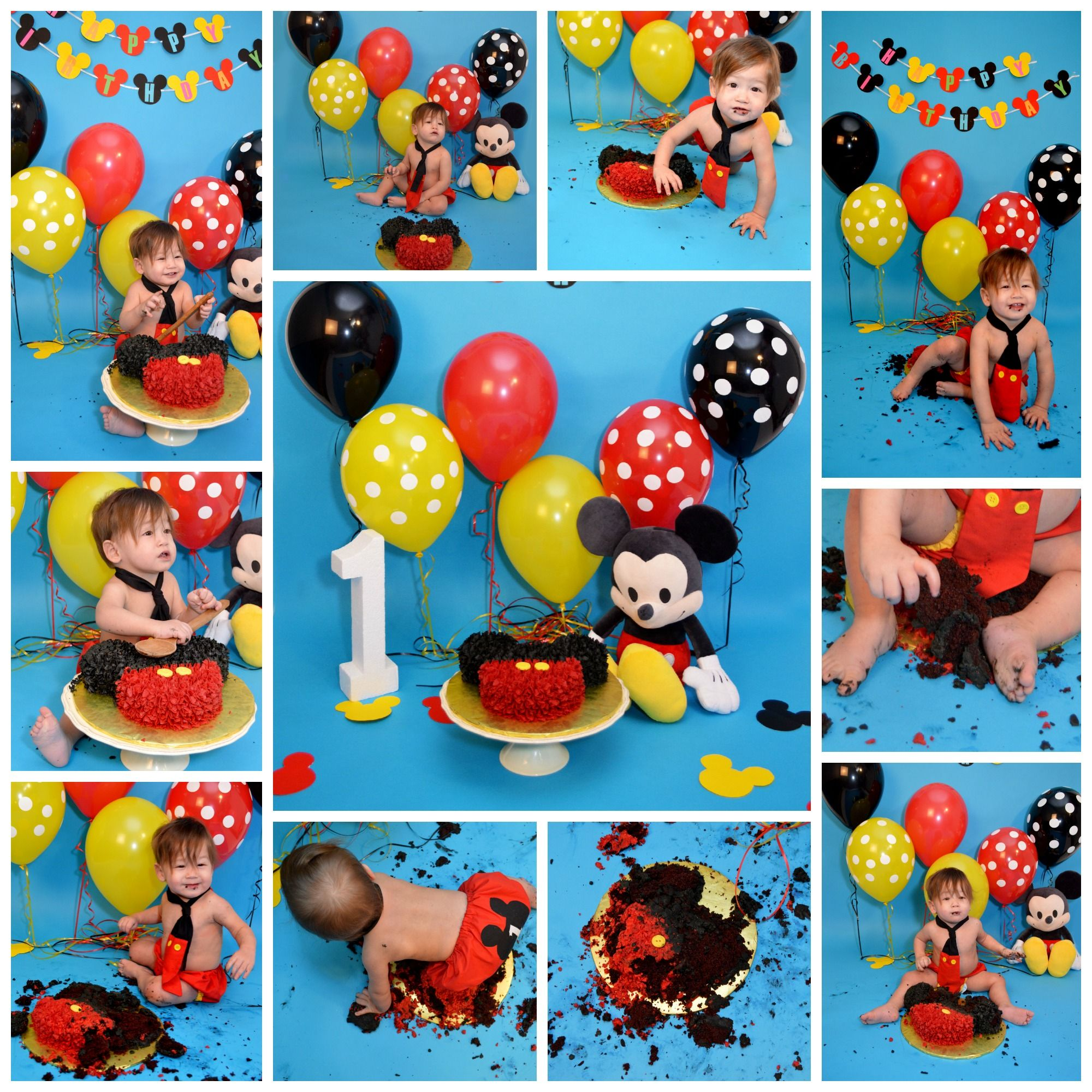 Cake Smash Session Mickey Mouse Themed With Images Mickey