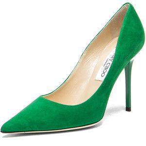 5aa13d7cae5b Jimmy Choo emerald pump featured in