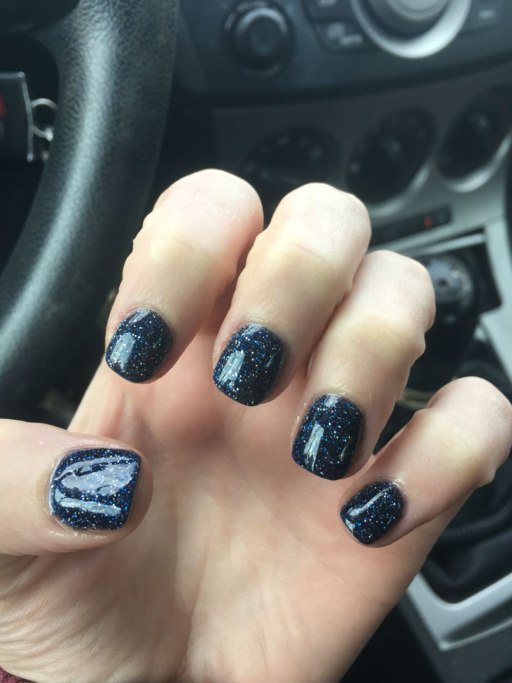 Dark blue navy sparkles Nexgen for January Winter 2016. Just like ...