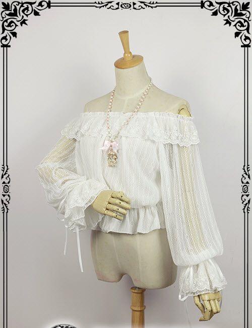 Fanzy Fantasy -Magic Starry Sky- Sweet Long Sleeves Lolita Blouse, White
