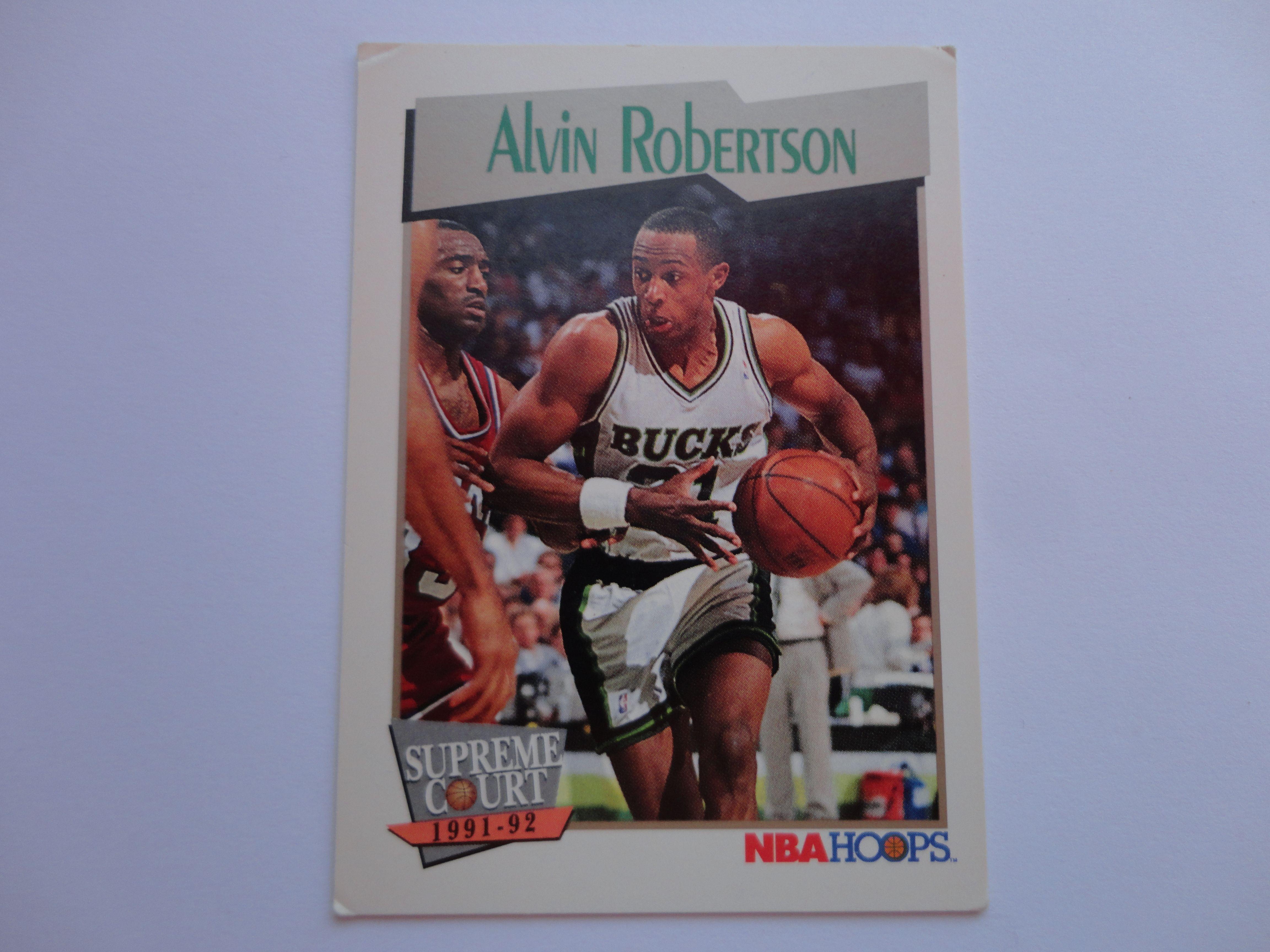 Alvin Robertson NBA Hoops Supreme Court 1991 92 Basketball