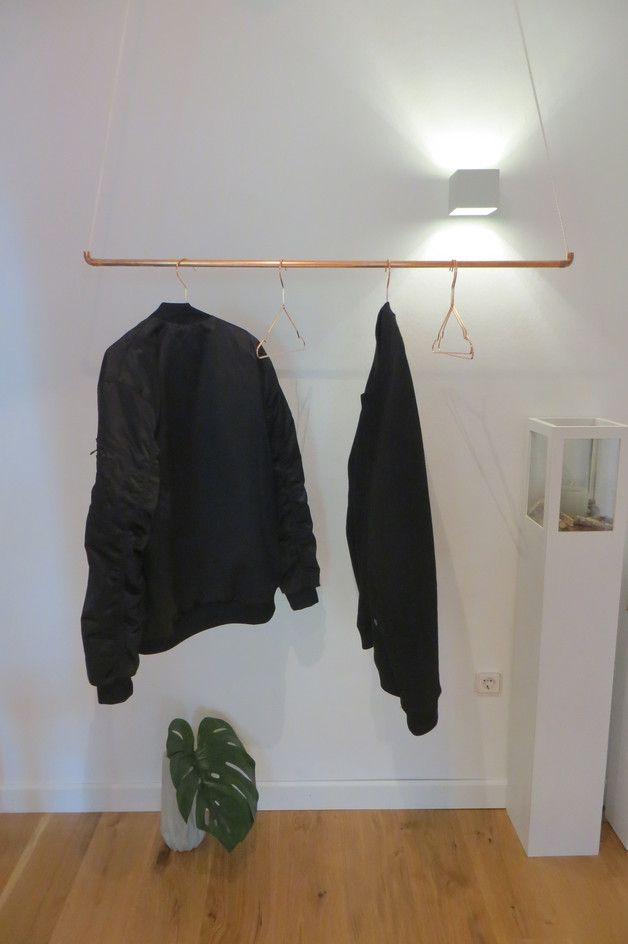 Garderobe Aus Kupferrohr Mit Kleiderbugeln Kleiderstange Furs
