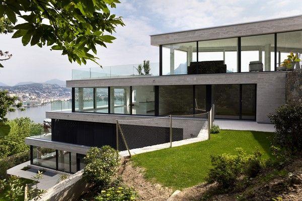 Fachadas en terrenos con pendiente fachadas de casas - Casas en pendiente ...