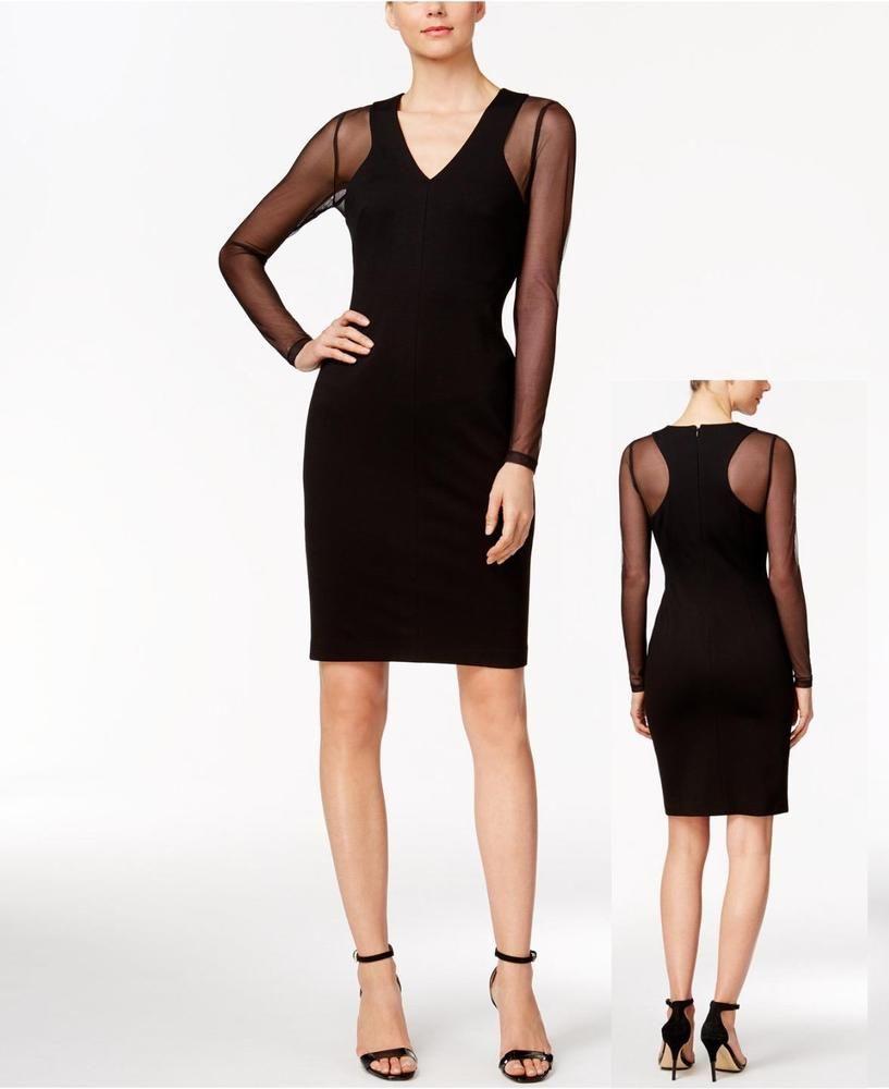 15++ Calvin klein illusion sleeve dress trends
