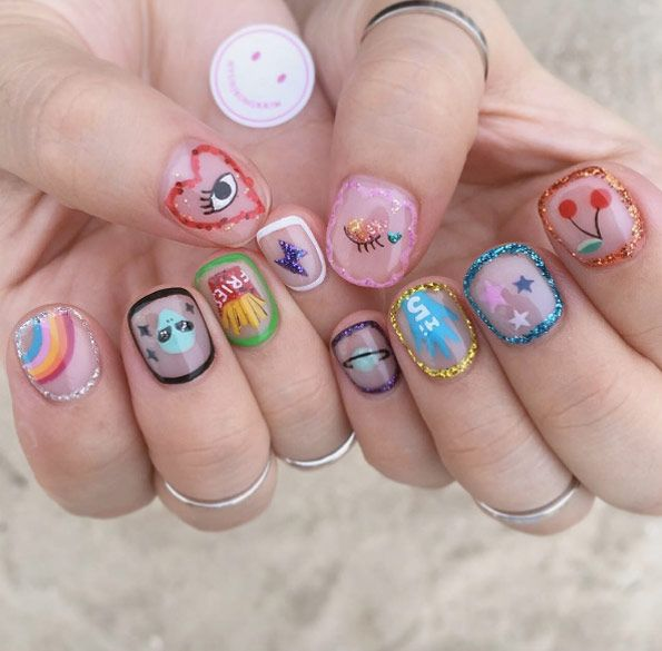 42 Super Cute And Easy Nail Designs Outlines Manicure And Makeup