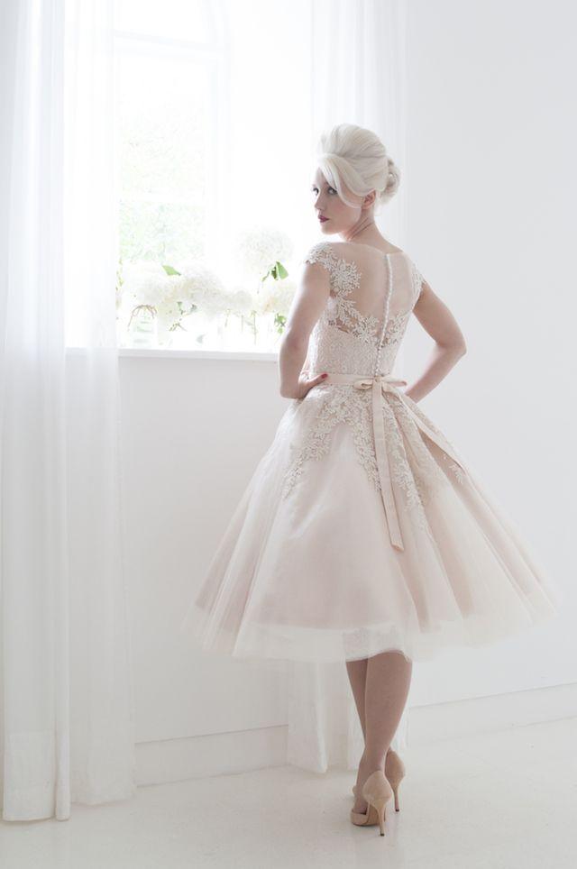 43+ Blush tea length wedding dress inspirations