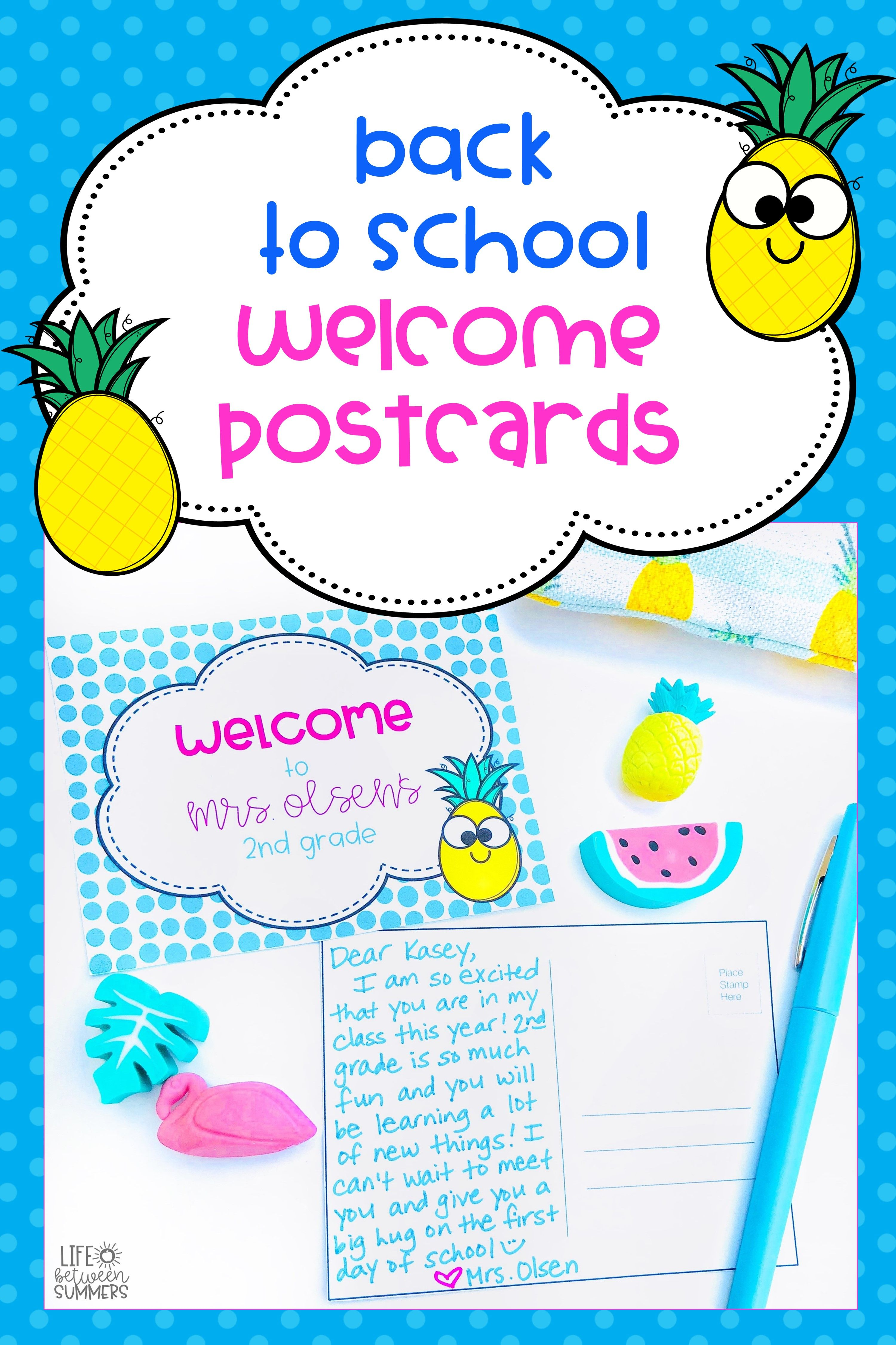 Back To School And End Of The Year Postcards From Teacher To