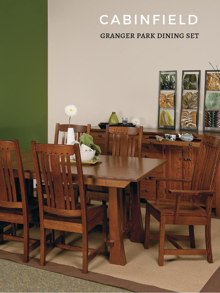 Granger Park Amish Dining Room Set | Cabinfield Amish ...