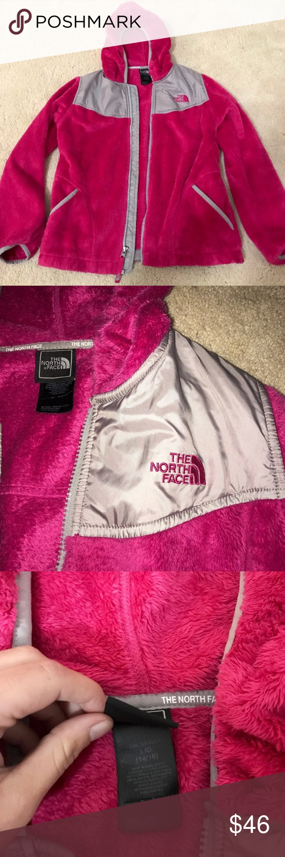 The North Face Girl S Hot Pink Jacket North Face Girls Pink Jacket Hot Pink [ 1740 x 580 Pixel ]