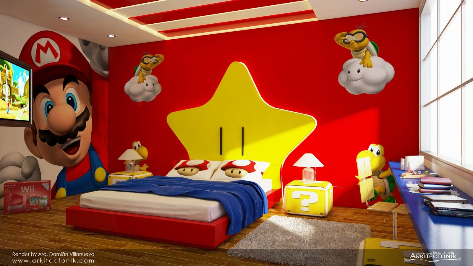 Para mi ni o habitacion de mario bros ideas para for Como decorar habitaciones de ninos