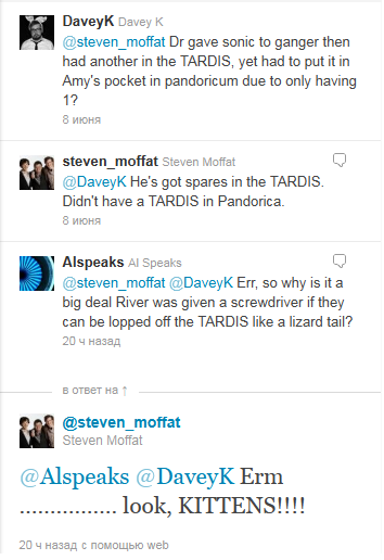 Moffat beat at his own game!