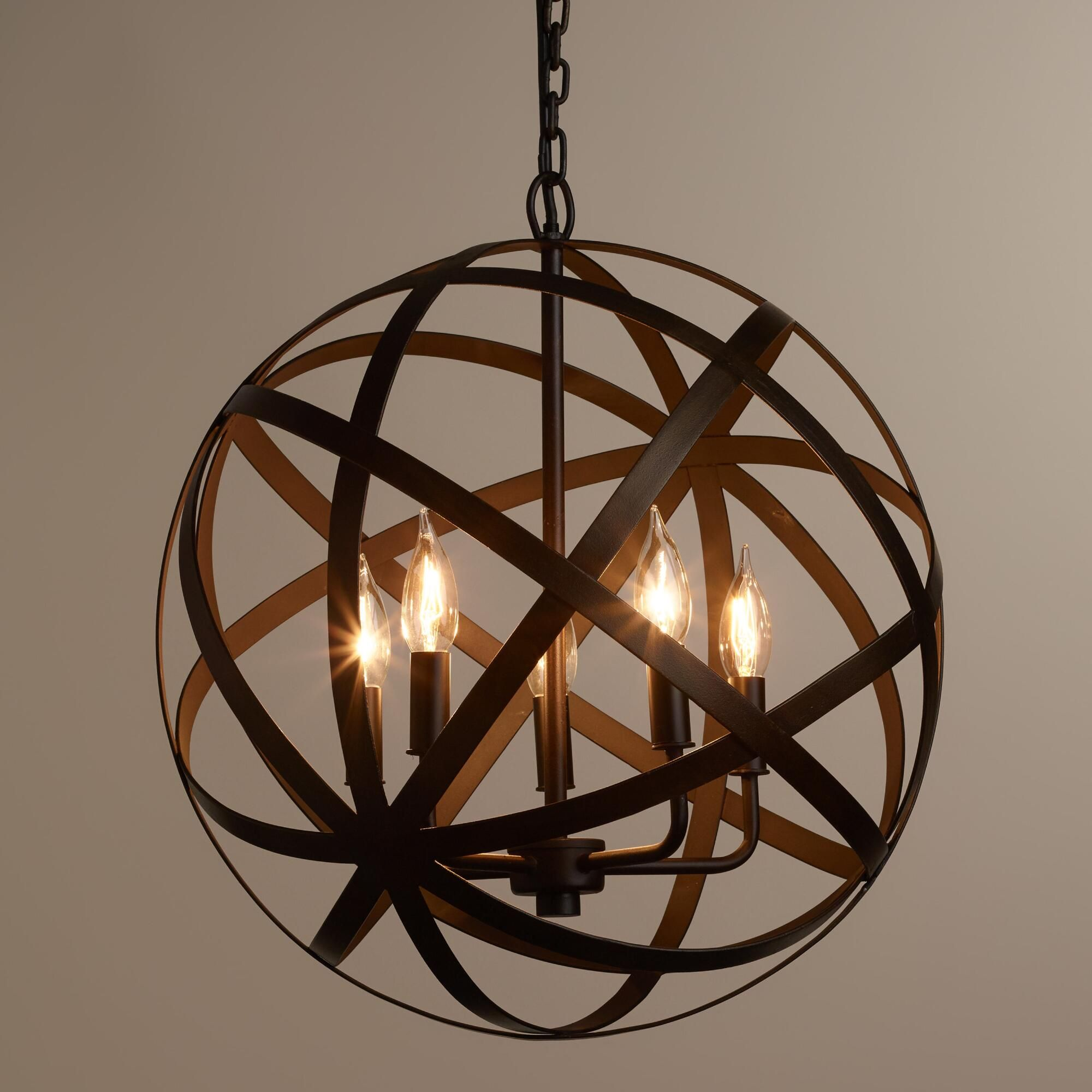 We Re Proud To Present Our Exclusive Metal Orb Chandelier Finely