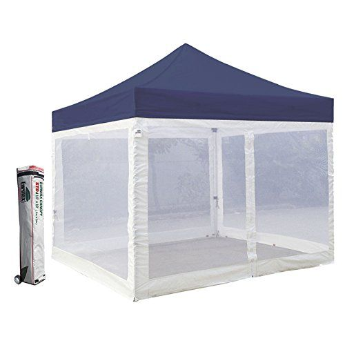 Eurmax Standard 10x10 Ez Pop Up Canopy With Four 4 Screen Walls And Wheeled Bag Navy Blue Want Additional Info Click Pop Up Canopy Tent Canopy Canopy Tent