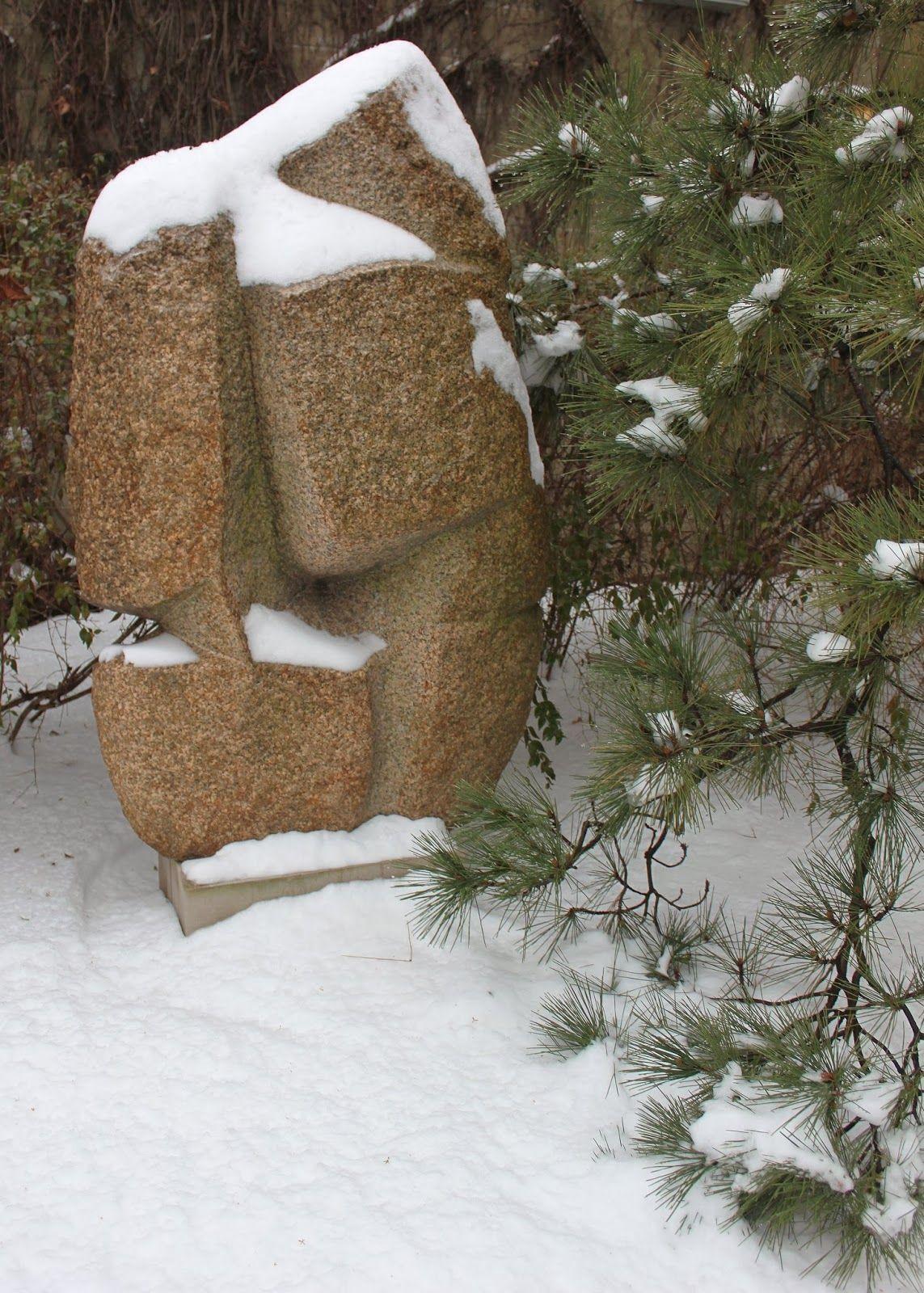 Isamu Noguchi sculpture in snow 2014 - Jan Johnsen   Heaven is a ...