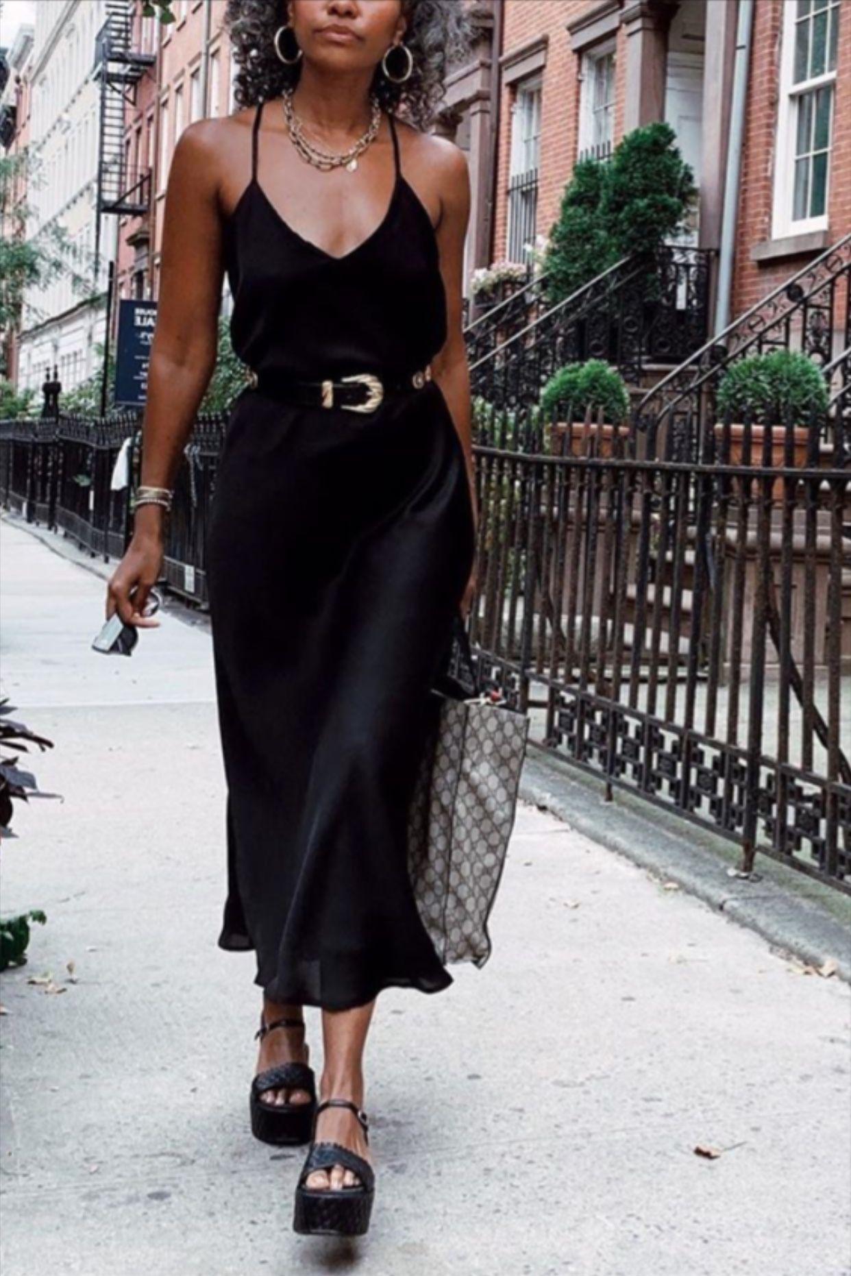 Photo of Natural silk slip dress black midi Stretch silk cami dress Black silk chemise Silk satin dress bias cut Valentines day dress Plus size dress