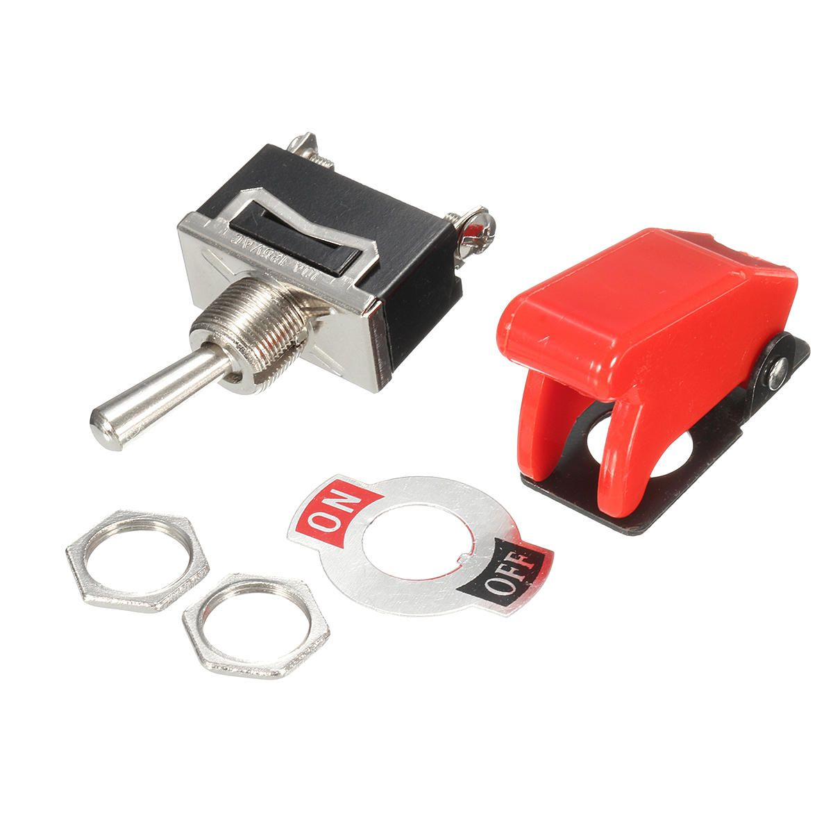 Excellway 12v Heavy Duty Toggle Switch Flick On Off Car Boat Light Switch Spst With Missile Cover Boat Lights Light Switch Toggle Switch