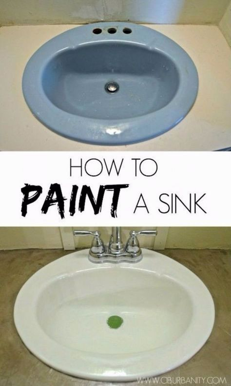 Diy home improvement on a budget paint your old sink easy and diy home improvement on a budget paint your old sink easy and cheap do it yourself tutorials for updating and renovating your house home deco solutioingenieria Images