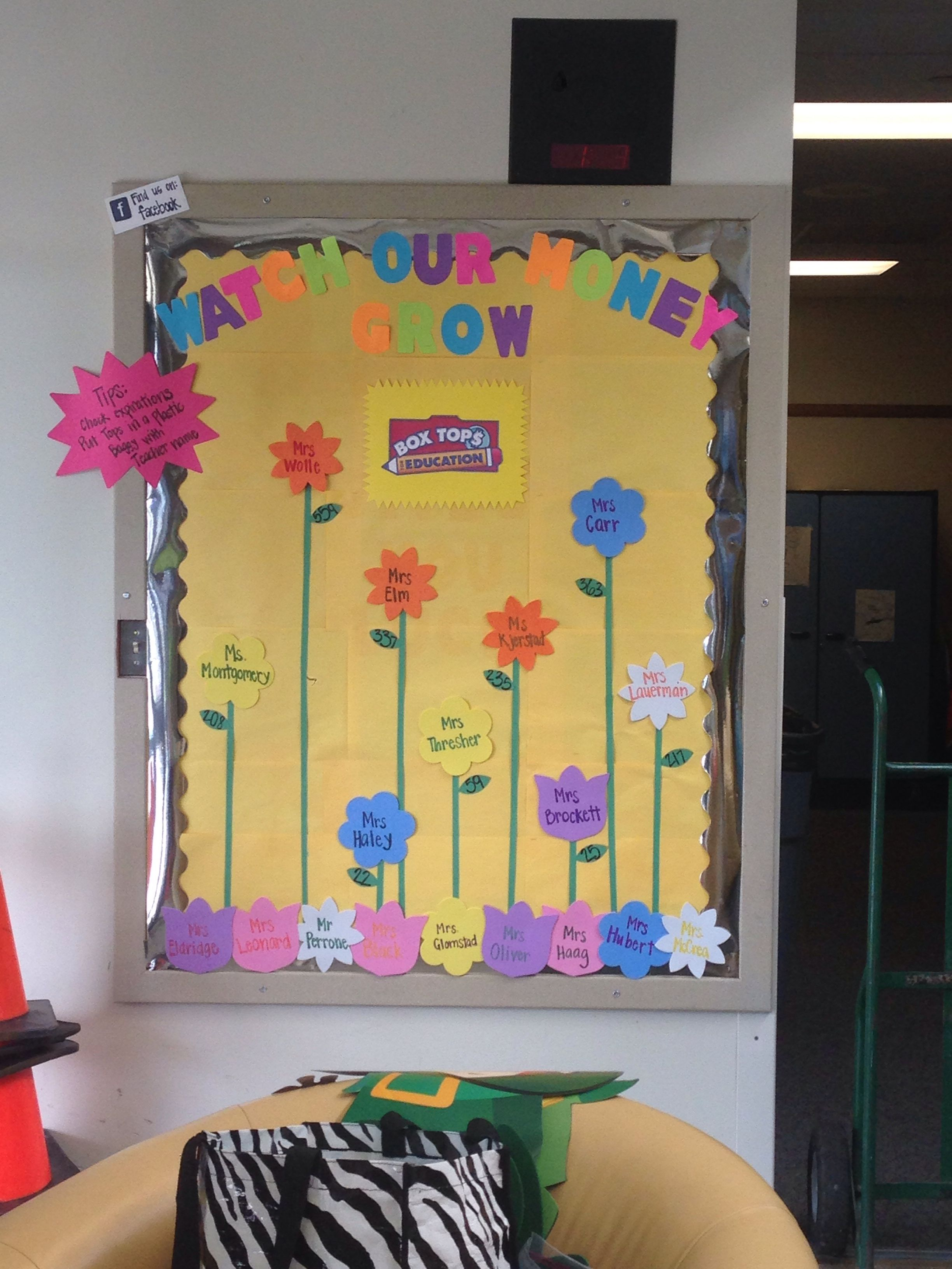 A Box Tops Bulletin Board We Put Together To Bring Spring
