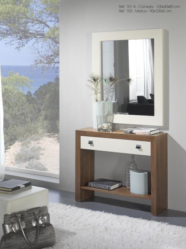 Recibidores modernos baratos recibidor moderno con espejo - Muebles modernos malaga ...