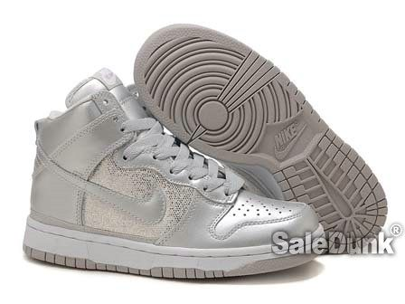 huge selection of a8cb9 108f2 nike High Tops Women   ... Custom Shoes  Sequin Silver Nike High Tops For  Women Custom Shoes