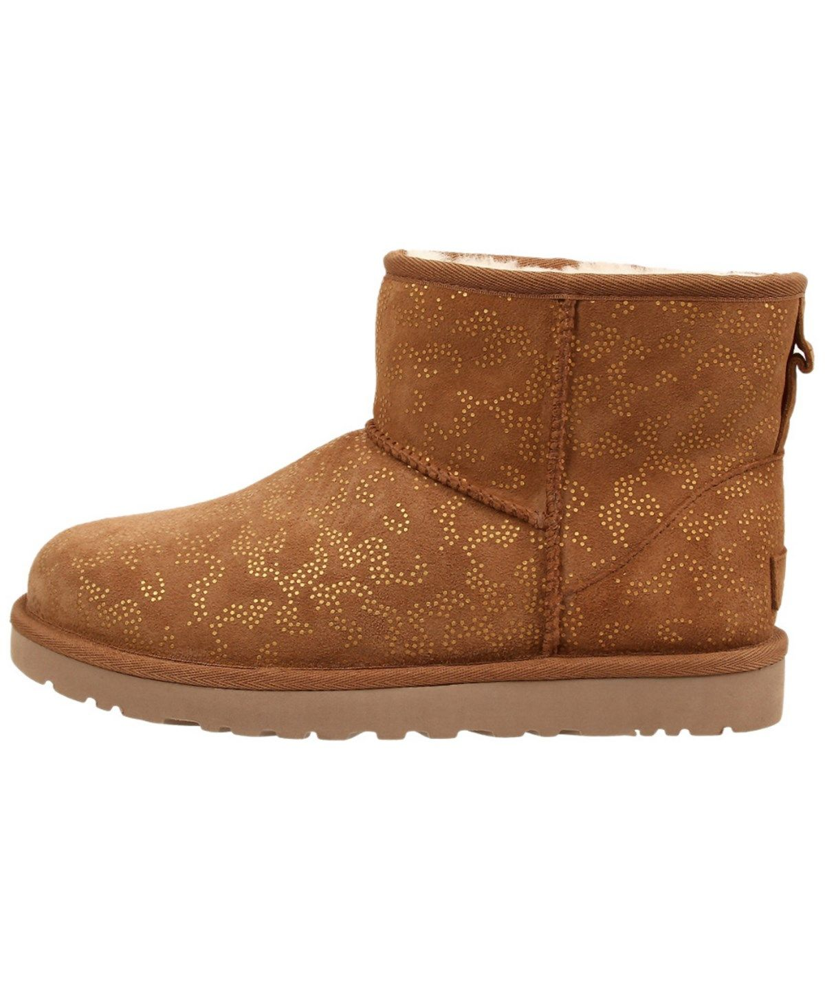 ugg classic mini metallic conifer twinface sheepskin boot