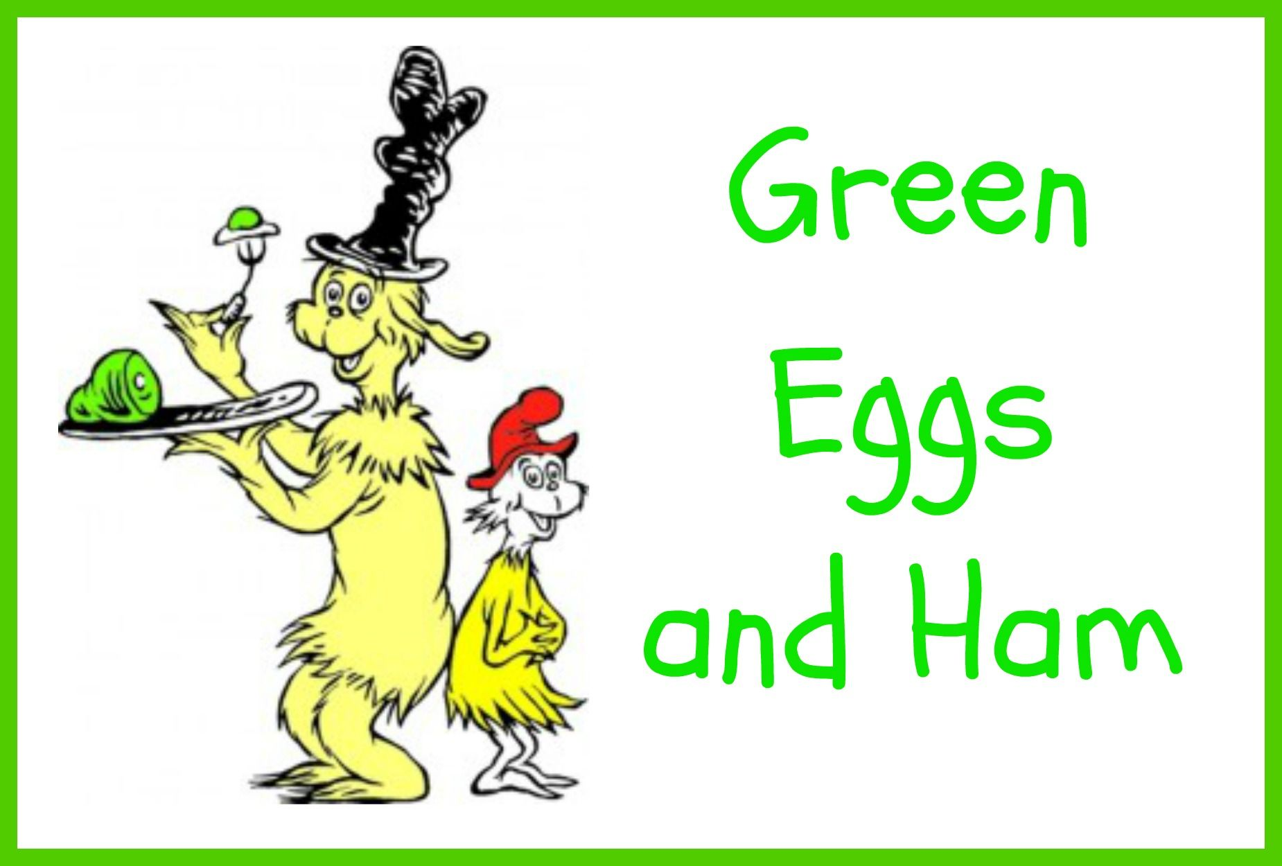 Dr Seuss Green Eggs And Ham Food Label