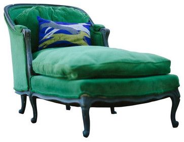 Vintage French Style Chaise   Traditional   Indoor Chaise Lounge Chairs   San  Francisco   Chairish