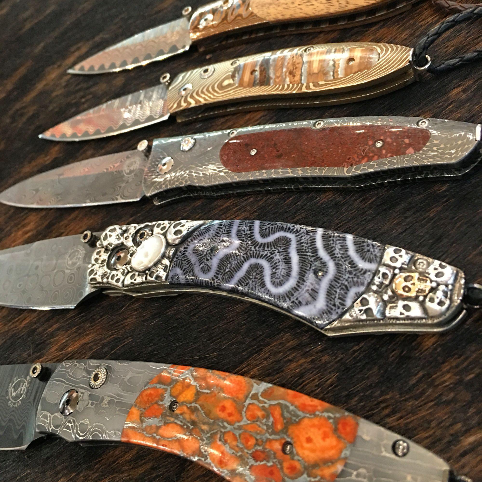 William Henry Pocket Knives! Mammoth Tooth, Dinosaur Bone