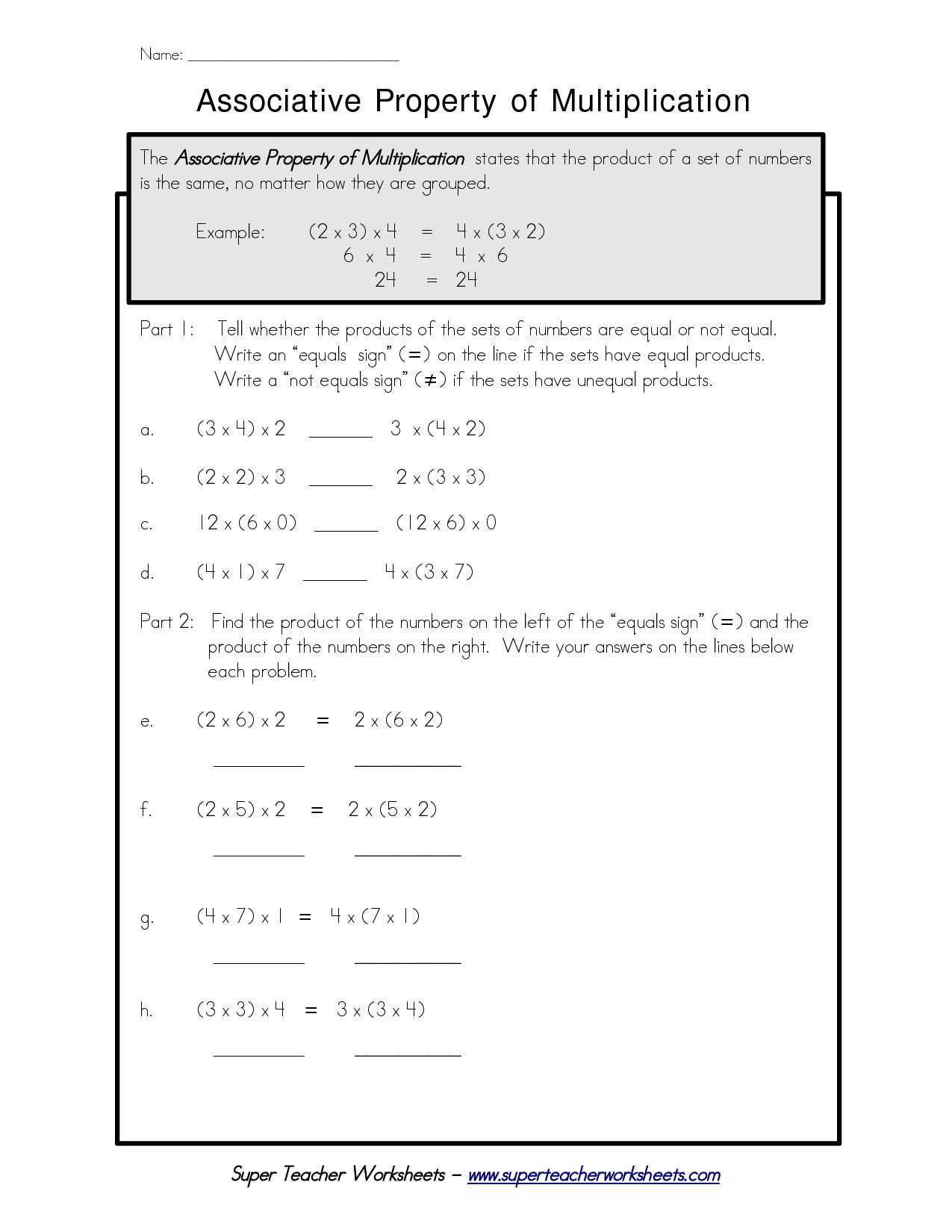 7 Distributive Property Worksheets 6th Grade   Math properties [ 1650 x 1275 Pixel ]