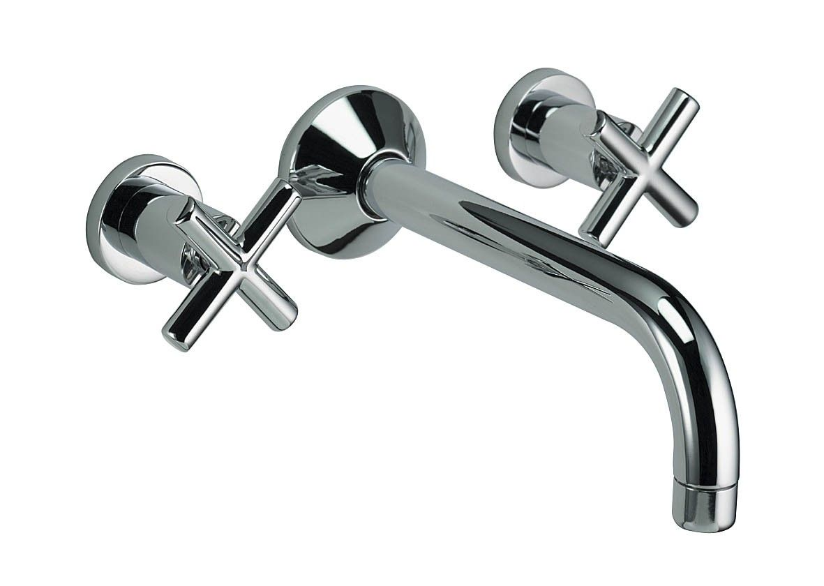 Lana three hole wall mounted basin mixer #taps #basintaps ...